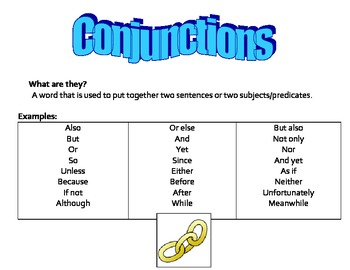 Conjunctions and Compound Sentences