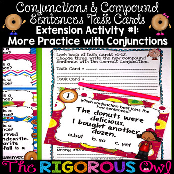Conjunctions and Compound Sentences Task Cards