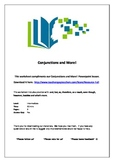 Conjunctions and More! Worksheet (therefore, however, etc)