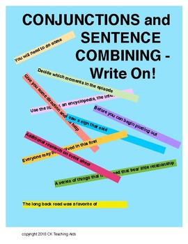 Conjunctions and Sentence Combining -- Write On!