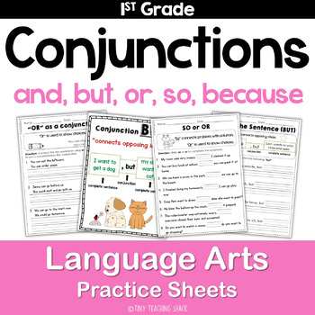Conjunctions And But So Or For Common Core Practice