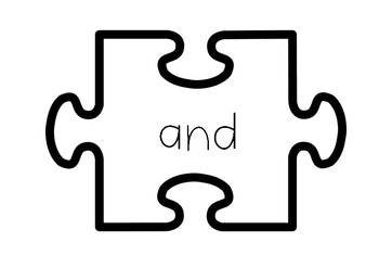 Conjunctions and connectives display {18 words- growing collection}