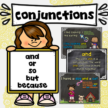 Conjunctions and or so but because