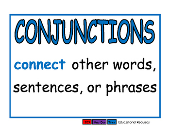 Conjunctions blue