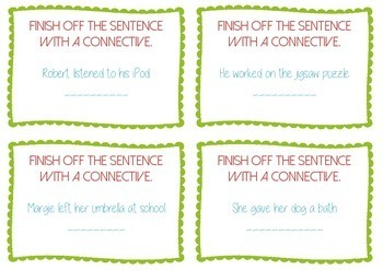 Conjunctions / connectives Task Cards - Guided Reading - BUNDLE
