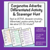 Conjunctive Adverbs: Differentiated Activity and Scavenger Hunt