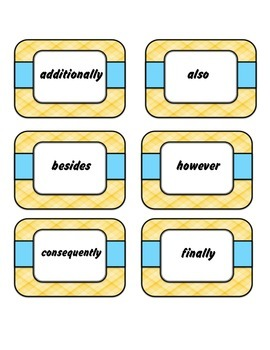 Conjunctive Adverbs - Joining Sentences