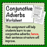 Conjunctive Adverbs Worksheet