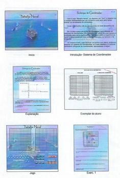 Conjunto de atividade Batalha Naval com coordenadas Cartesianas (Português)