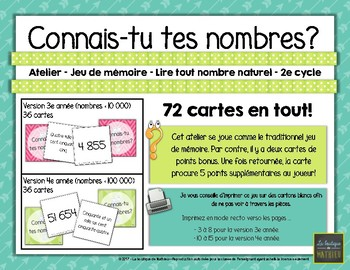 Connais-tu tes nombres? - Atelier - 2e cycle [FRENCH]