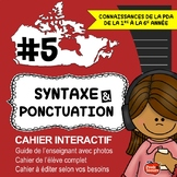 Cahier interactif/ French immersion / Core / Grammar interactive notebook