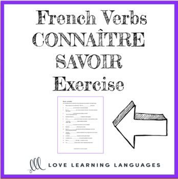 Connaître or Savoir French Worksheet