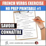 Connaître or Savoir French Worksheet