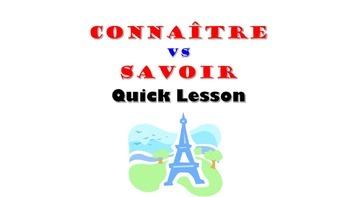 Connaitre vs Savoir (to know): French Quick Lesson
