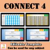 Connect 4 Review Game PowerPoint Template