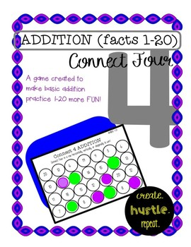 Connect 4 Addition: (1-20)