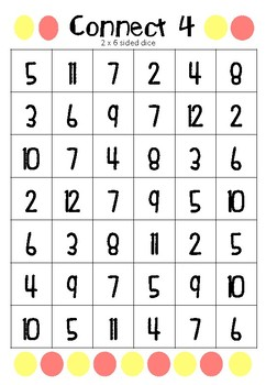 Connect 4 Addition Game