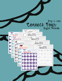 Connect 4 Addition and Sight Words BUNDLE