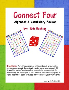 Alphabet & Vocabulary Review - Connect 4