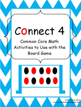 Connect 4 Board Game: 6 Math Activities