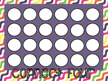 Connect 4: Character Traits and Theme Review Game