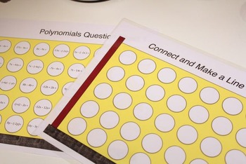 Connect 4 Cooperative learning game with Polynomials