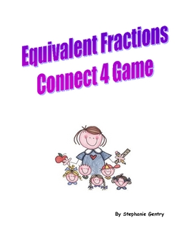 Connect 4: Equivalent Fractions game