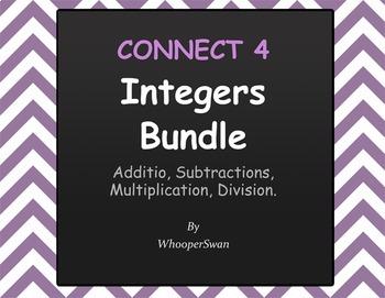 Connect 4 Game - Integers Bundle