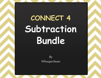 Connect 4 Game - Subtraction Bundle