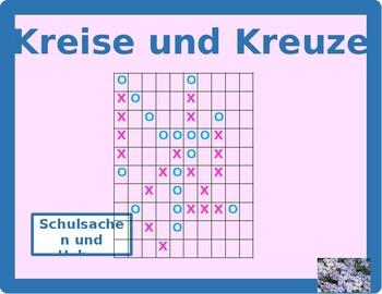 Schulsachen und Haben German verb Connect 4 game