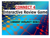 Connect 4 Interactive Review Game (For any subject!) On Google Slides Template
