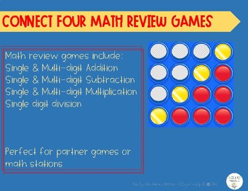 Connect 4 Math Review Games
