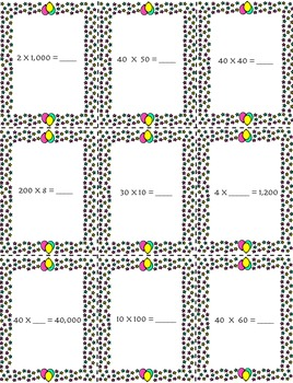 Connect 4 Multiples of 10, 100, and 1,000 Multiplication/Division Game