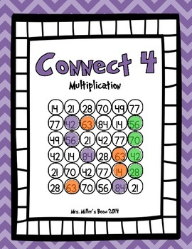 Connect 4 - Multiplication Game