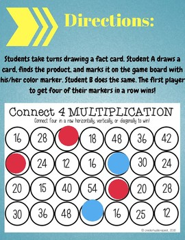 Connect 4 Multiplication