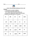 Connect 4: Multiply by 10 or 100