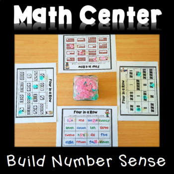 Four in a Row - Number Sense Game - Numbers 1-20