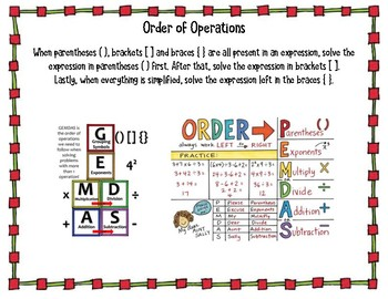 Connect 4 Order of Operations with Parentheses, Brackets & Braces 5.OA.A.1