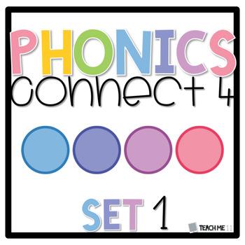 Connect 4 - Phonics Center Game - Set 1