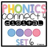 Connect 4 - Phonics Center Game - Set 6 - Paper & Digital Set