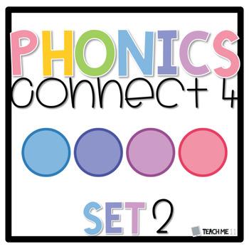 Connect 4 - Phonics Center Game - Set 2