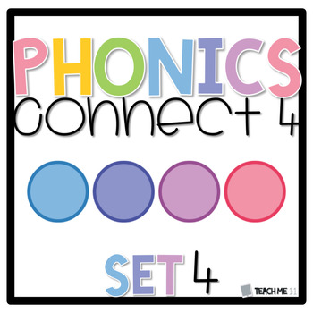 Connect 4 - Phonics Center Game - Set 4