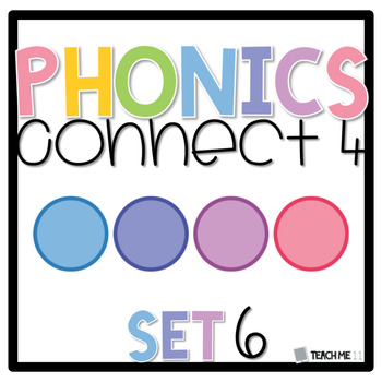 Connect 4 - Phonics Center Game - Set 6