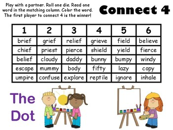 Connect 4 Phonics game Journeys Unit 6