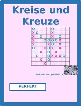 Perfekt of irregular verbs in German Connect 4 game