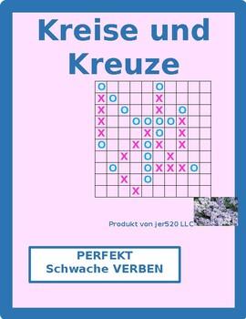 Perfekt of regular verbs in German Connect 4 game