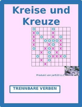 Separable prefix German verbs Connect 4 game