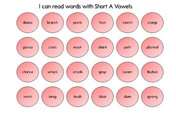Connect 4 - Short A vowels