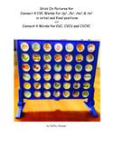 Connect 4 Stickers for CVC, CVCV & CVCVC Words