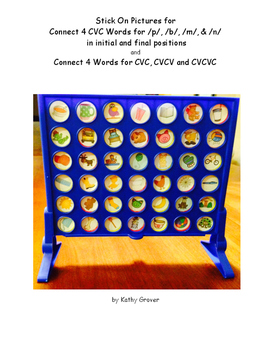 Connect 4 Stickers for CVC, CVCV & CVCVC Words